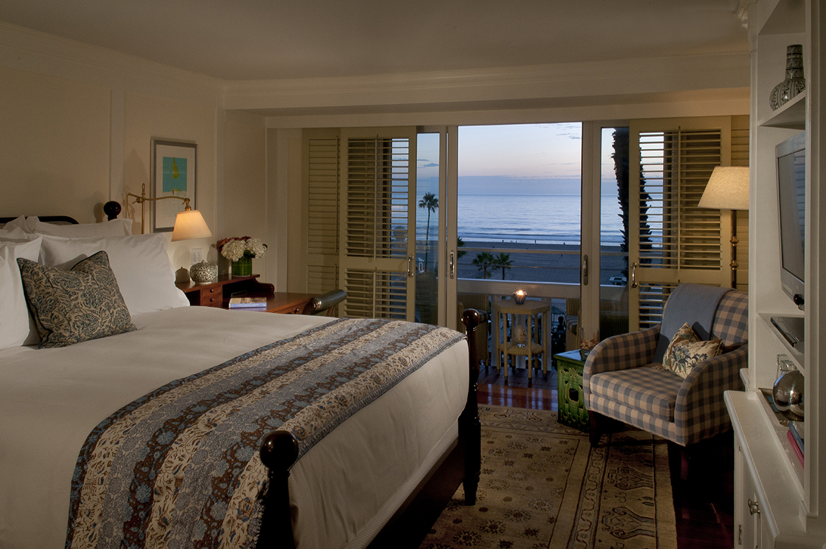 Shutters guest room with ocean view